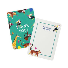 Party Animals Pack of 8 Thank You Cards