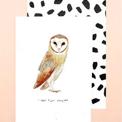 I Need T'woo Tonight Owl Card