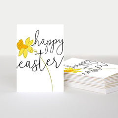 Happy Easter Daffodil Pack of 10 Cards