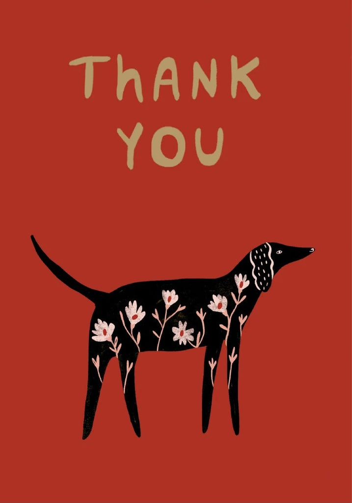 Black Dog Thank You Card
