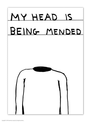 My Head Is Being Mended Postcard