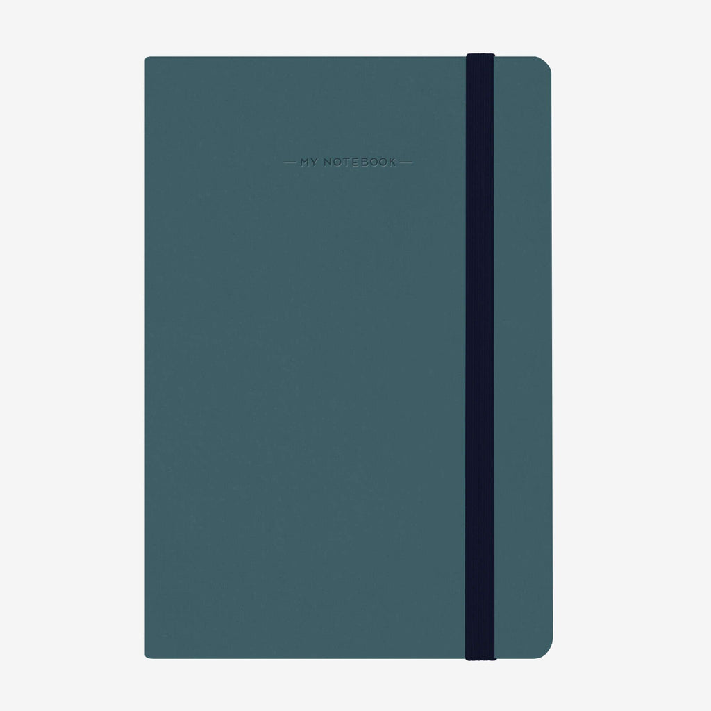 Medium Squared Petrol Blue Notebook