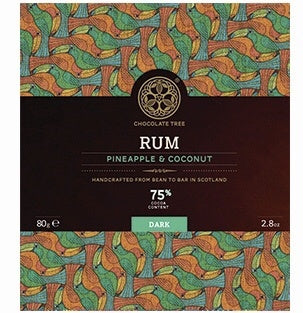 Bean to Bar Rum Pineapple Coconut 75% Cocoa