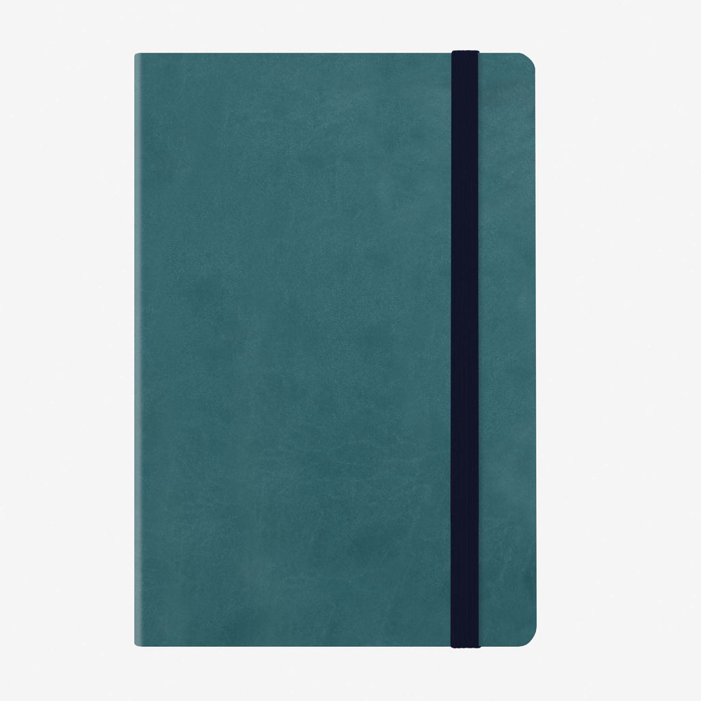 Medium Weekly Diary With Notebook 12 Month 2020 - Petrol Blue