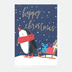 HAPPY CHRISTMAS PAINTED PENGUIN PACK OF 5