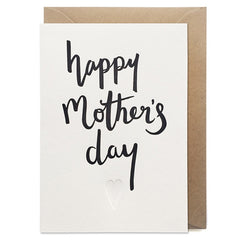 Happy Mother's Day Script Letterpress Card
