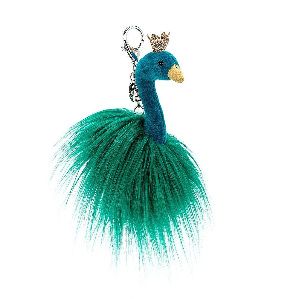 Fancy Peacock Bag Charm