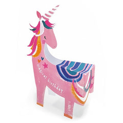 Magical Birthday Unicorn 3D Card
