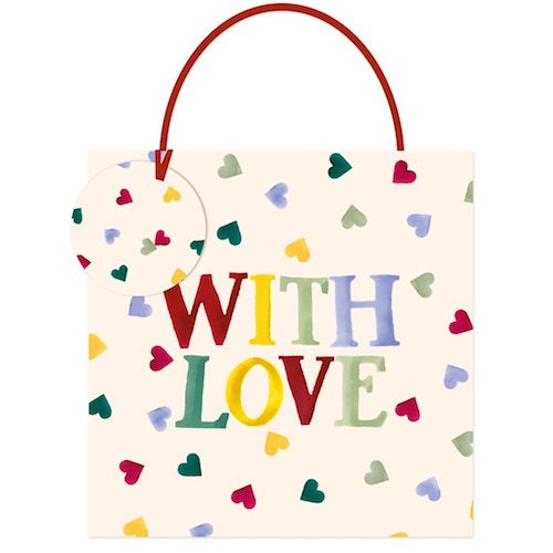 Emma Bridgewater Multi Hearts Medium Gift Bag