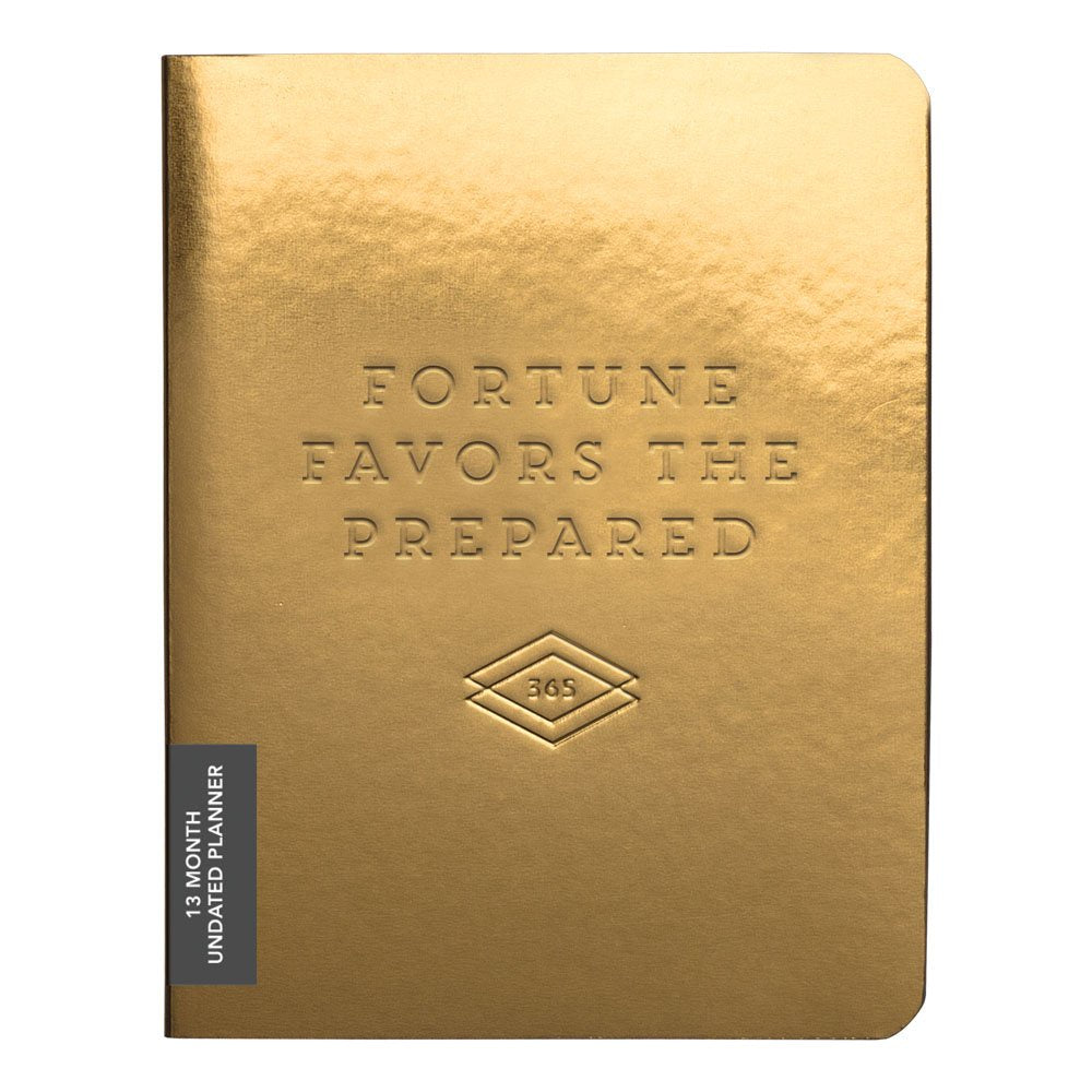 Fortune Favours the Prepared Gold Pocket Planner