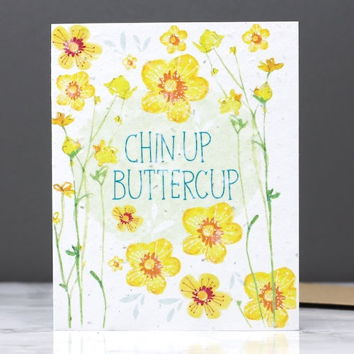 Chin Up Buttercup Seed Card