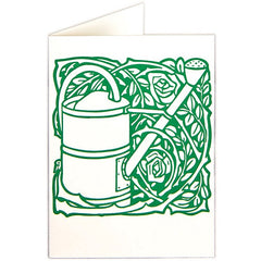 Watering Can and Roses Card