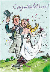 Tying The Knot Quentin Blake Wedding Card