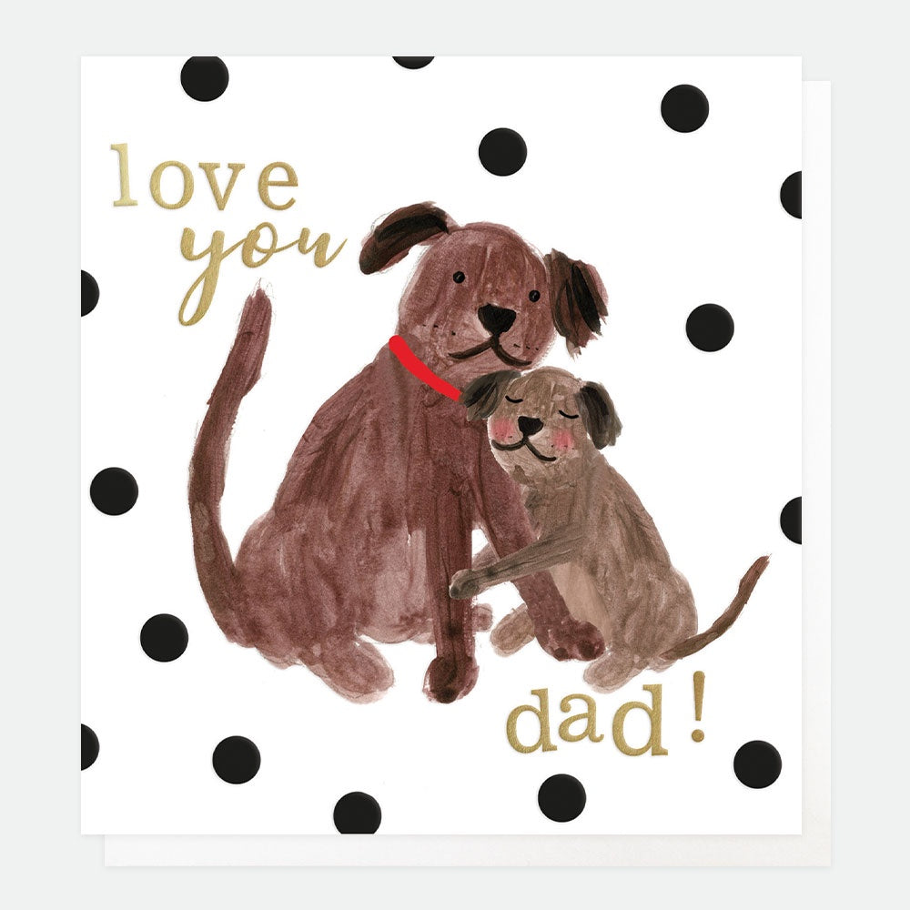 Love You Dad Dog Card
