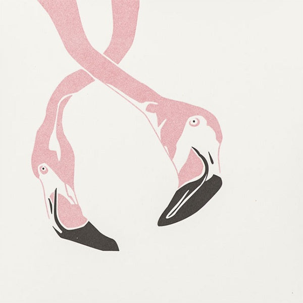 Flamingo Letterpress Card