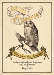 Eeylops Owl Emporium Harry Potter Card