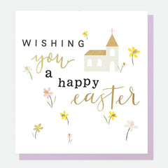 Happy Easter Church Foiled Card