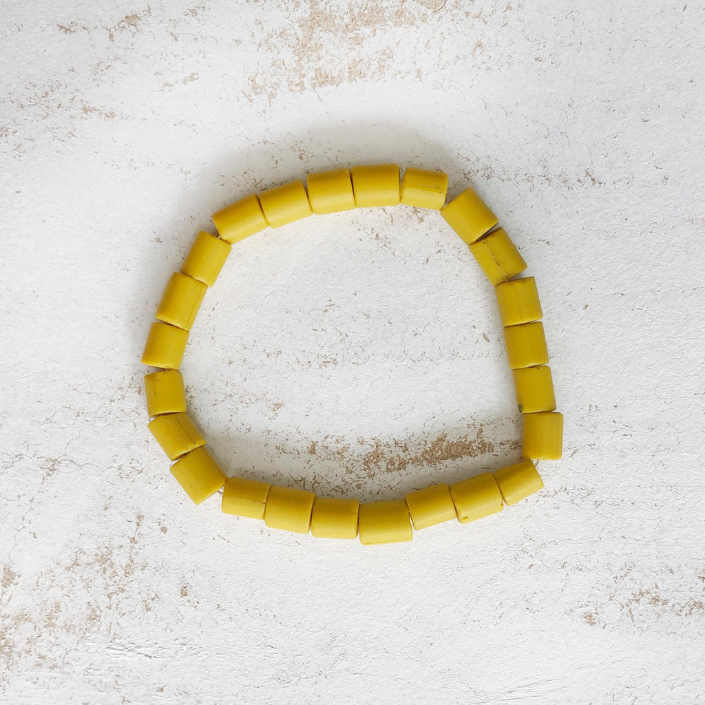 Nailo Opaque Eco Lemon Yellow Bracelet