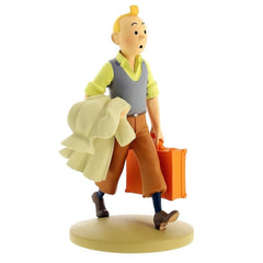 Tintin Carrying Suitcase Polyresin Figure