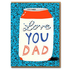 Love You Dad Koozie Card