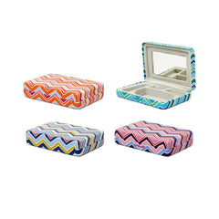 Portable Jewellery Case Striped Assorted