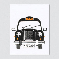 Dad Cab Father's Day Card