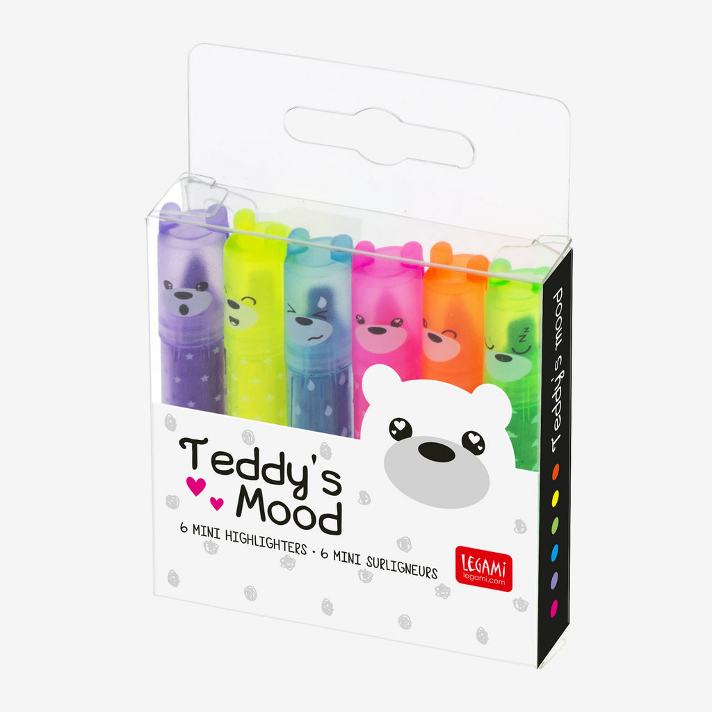 Teddy's Mini Highlighters Pack Of Six