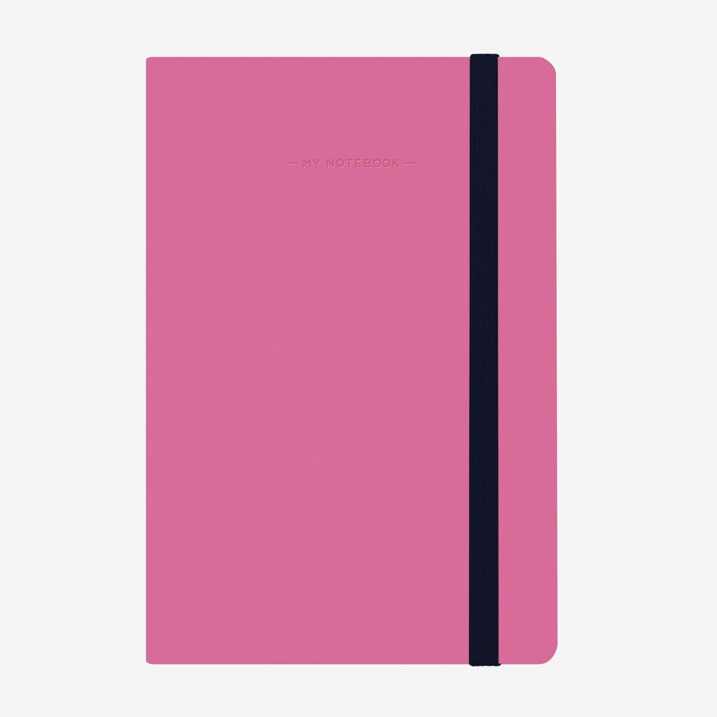 Medium Squared Magenta Notebook