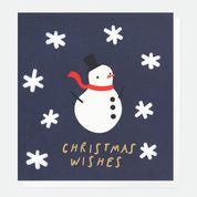 Snowman Foil Cut Out Christmas Card