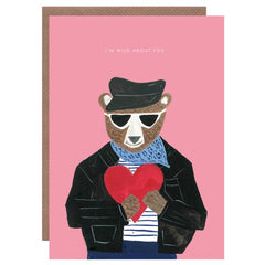Wild About You Bear Valentine's Day Card