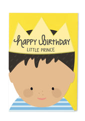 Happy Birthday Little Prince Cut Out Card