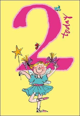 2 Today Quentin Blake Birthday Card with Fairy
