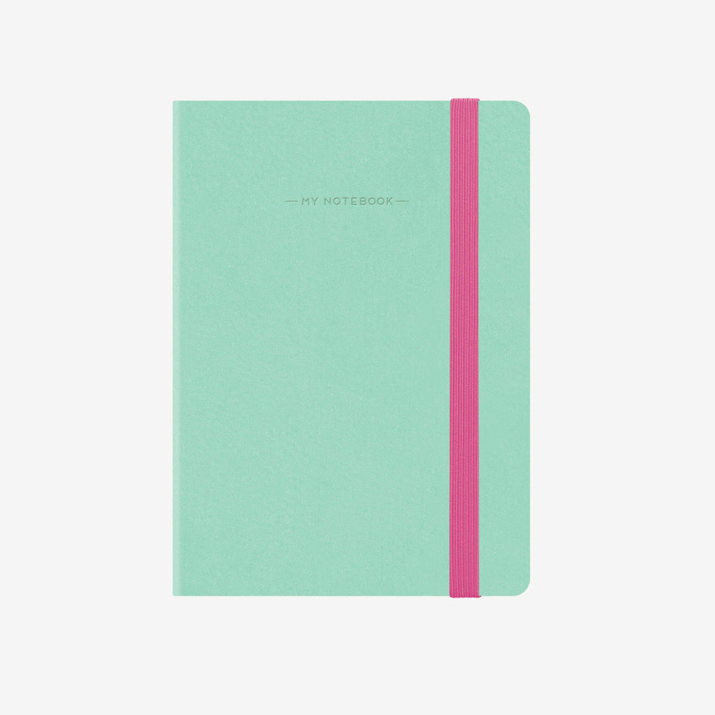 Small Plain Aqua Notebook