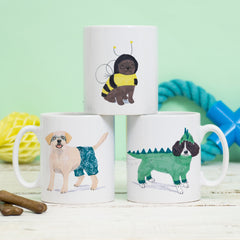 Pug Bee, Labrador and Spaniel Dragon Mug