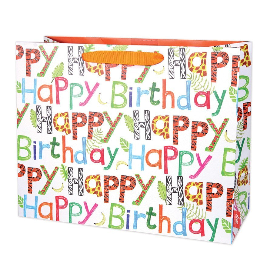 Jungle Letter Large Gift Bag