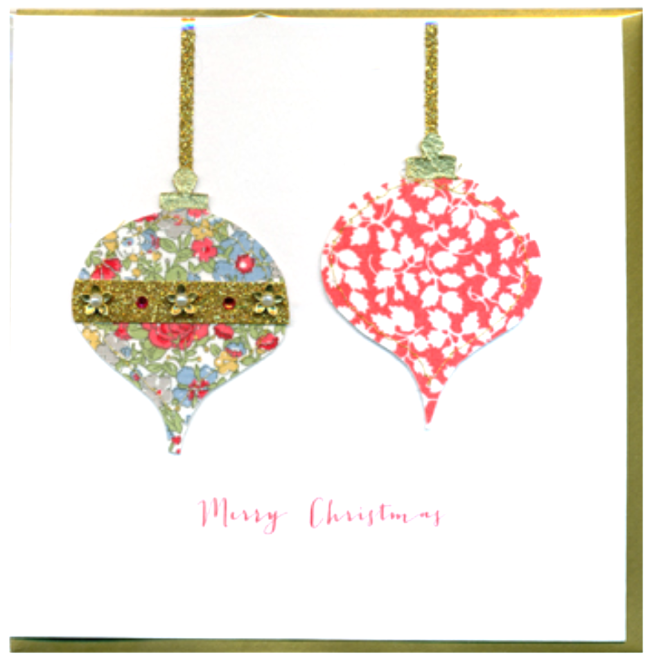 Collage Bauble Christmas Card