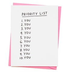 Priority List: You Valentine's Day Card
