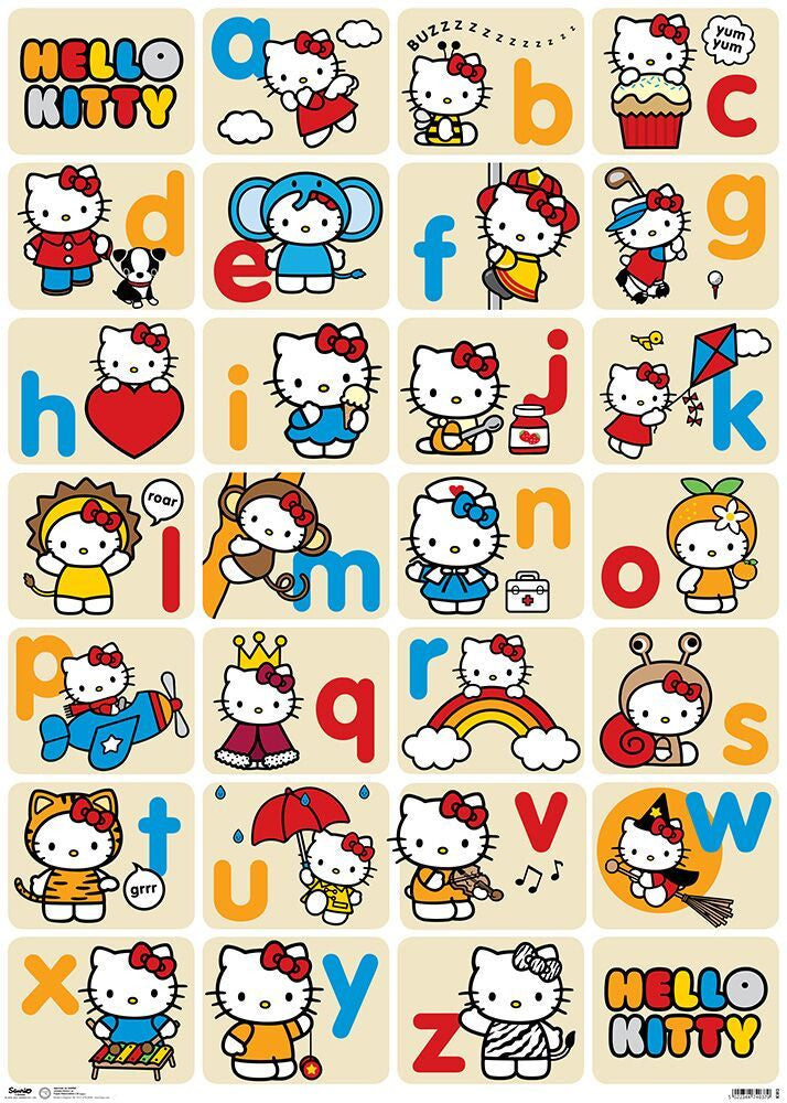 Hello Kitty Alphabet Sheetwrap