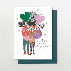 Woohoo! Balloons Engagement Card