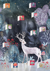 Silver Stag Advent Card