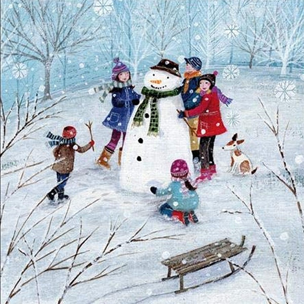 Building A Snowman Pack of 5 Cards