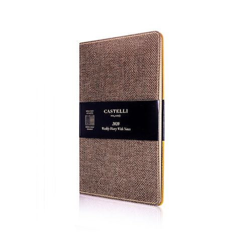 Castelli Harris Tobacco Brown Weekly 2020 Diary