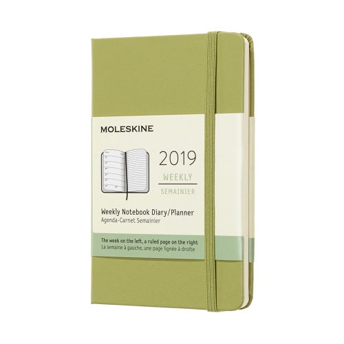 2019 Moleskine Weekly Pocket Planner Hardcover Lichen Green