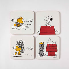 Snoopy and Woodstock set of 4 Coasters