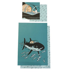 Tintin Duvet Set Shark Submarine