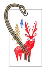 Red Deer Pack of 4 Gift Tags