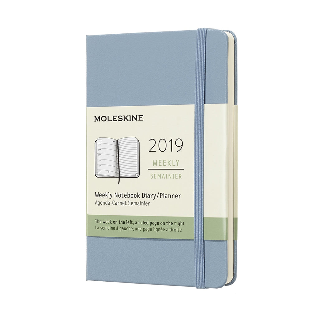 2019 Moleskine Weekly Pocket Planner Hardcover Cinder Blue