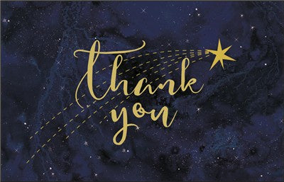 Constellations thank you cards pack of 10