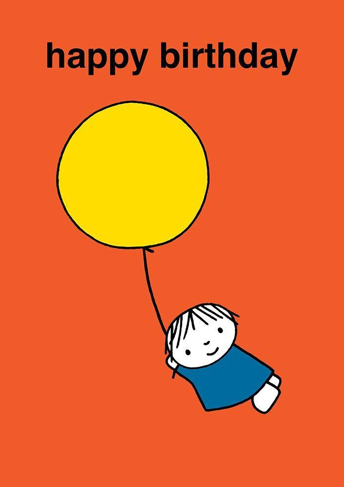 Dick Bruna Happy Birthday Balloon Card