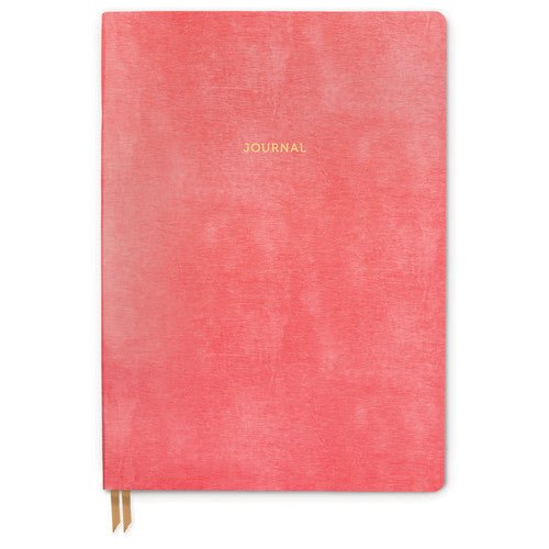 Bonded Leather Journal - Large Pink